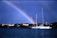 Arc en ciel sur Prickly Bay à Grenada